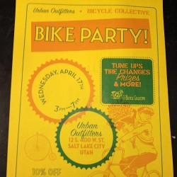 Urban Outfitters bike party!!!! Bring your bike to Urban at the Gateway and get 10%off your purchase! #uoonyou #gateway #bike
