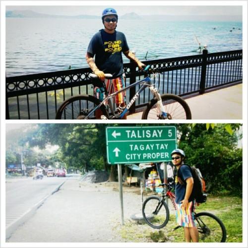 Cycling from Tanauan City to Tagaytay City via Mt. Sungay. 54km balikan, Padyak hanggat may lupa! 2000ft above sea level #fulfilled #achievement #adventure #fun #experience #crosscountry #biking #thrillseeker #beginner #2ndtime