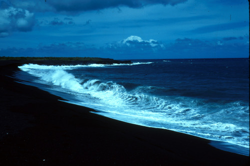 """ Black Sand Beach ""  …  Big Island of Hawaii [East Coast] …  Photographer: Joe Smythe"
