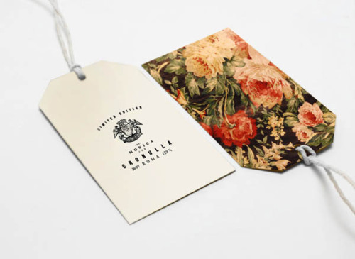 Brand Design Roma, Italy-based graphic designer and art director Roberta Farese created this classic brand identity for MONICA. Branding Inspiration on WE AND THE COLORWATC//Facebook//Twitter//Google+//Pinterest