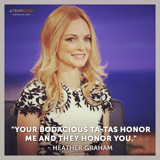 #HeatherGraham from last night's show. #CONAN #thehangover  (at Warner Bros Stage 15)