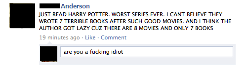 idiotsonfb:  a true potter fan.