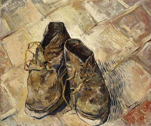 myworldofnonsense1:  Shoes, 1888By Vincent van Gogh (Dutch, 1853–1890)Oil on canvas