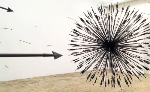 Spectacular Sculptural Installation Featuring Over 200 Arrows