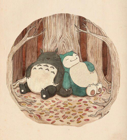 Tottoro and Snorlax <3