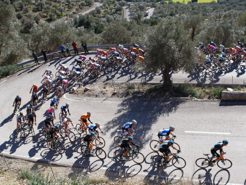 Classic classic pic form Challenge Mallorca. via the Team Sky site