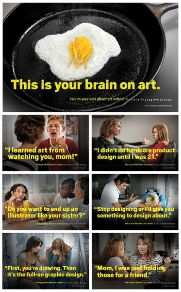 Great art school with out of the box thinking… and a hilarious ad campaign. www.collegeforcreativestudies.edu