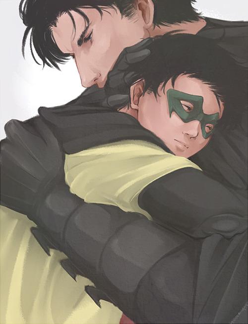 My art batman and robin bruce wayne Damian Wayne