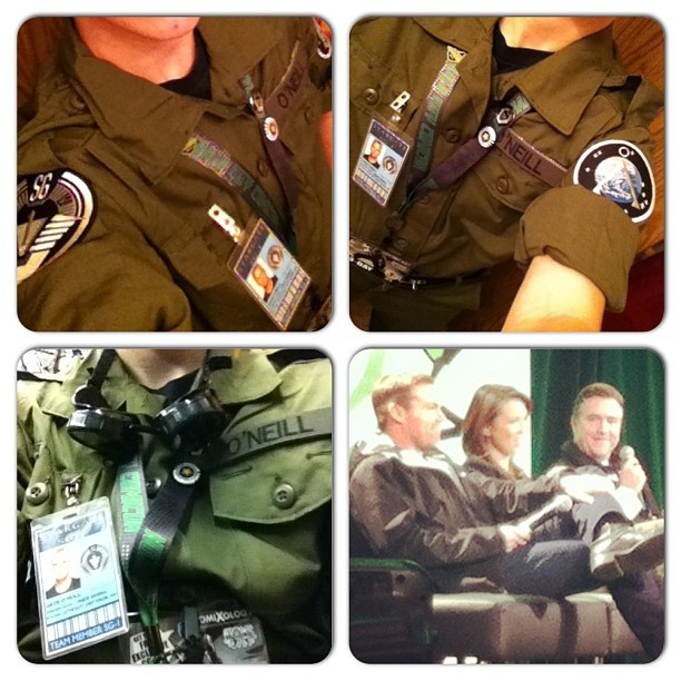 #comicon #eccc #emeraldcitycomicon #seattle #stargatesg1 #stargate #sg-1 #michaelshanks #lexadoig #paulmcgillion #cosplay #oneill