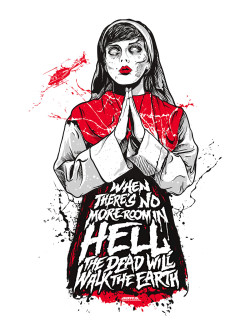 """When there's no more room in hell the dead will walk the earth""Printed for the celebration of Baxter Ave's 200th showing of their Midnight Movie Series. This time, it was Dawn of the Dead! So to celebrate and encourage people to come out dressed up and ready for a good time, the first 50 people to show up in costume get a free zombie art print! 18x24  3 colors - the silver pops! Signed, numbered & limited to a run of 200 (only 150 online)  printed with love and guts at Crackhead Press"