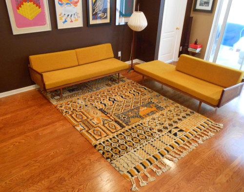 midcenturymodernfreak:  1960s Danish Modern Daybed/Sofa & Loveseat - Via