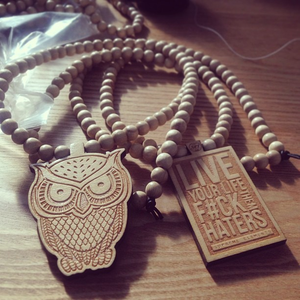 Freshly made! The nightgazer and livelife chain restocked! #wooden #chain #necklace #custom #supremeelementsclothing #livelife #swag #dope #popular #picoftheday #photooftheday #fashion #streetwear #london
