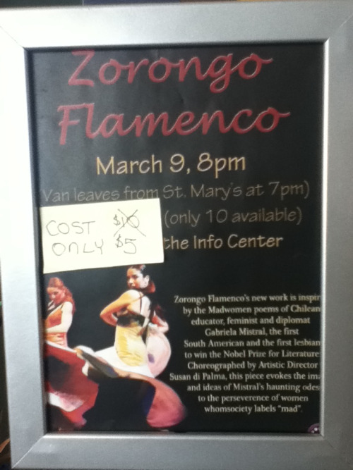 Flamenco Dance sale for  $5 (originally $10) Sat @7PM Sign-up at the Info Center before spots fill up!