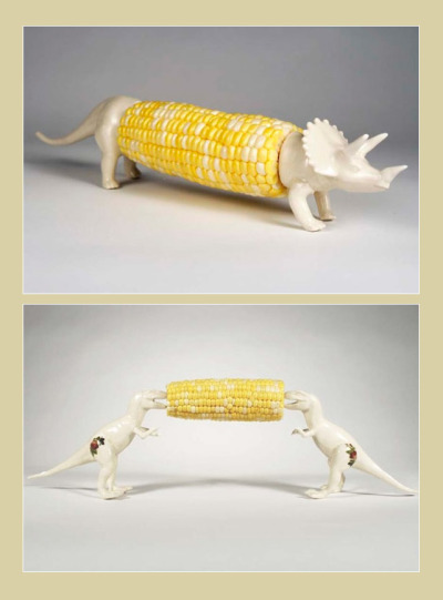 krisfairbanks:  Dino corn cob holders