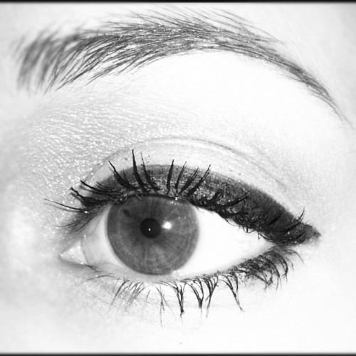 #eye #beauty #eyeliner #blackandwhite
