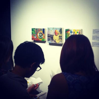 People seemed very interested… Go me! #zada #art #mixedmedia #singapore