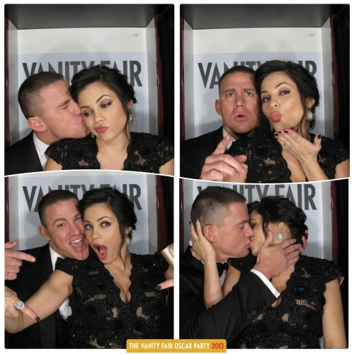 Check out Channing Tatum and Jenna Dewan-Tatum's adorable Vanity Fair Oscars party photo booth pics!