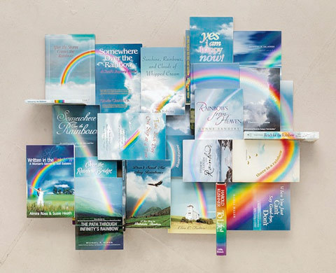 photojojo:  Quadruple-rainbow! Kent Rogowsky made this great rainbow collage out of self-help books.  Collages Made from Self-Help Books via explore-blog