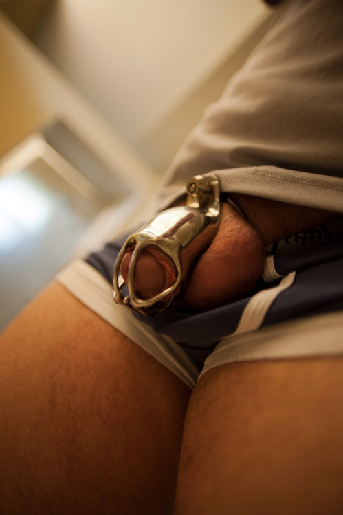 doasyouretold:  fashions3x:  What's this for?  It is a chastity device. It locks on with a piercing and prevents the wearer from sex and masturbation unless the person who has the key allows it.