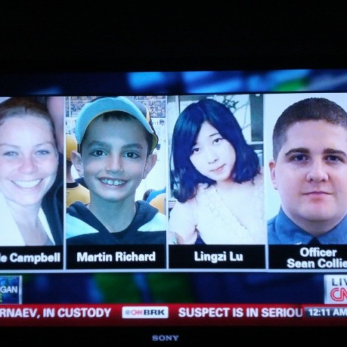 themoe85:  RIP to Boston Marathon bombing victims and also the police officer killed during manhunt shooting. #boston #bostonstrong #bostonmarathon #bostonmarathonbombing #manhunt #nofilter #cnn #rip