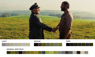 astronautmikedexter:  A study of color - Inglorious Bastards Cinematographer - Robert Richardson