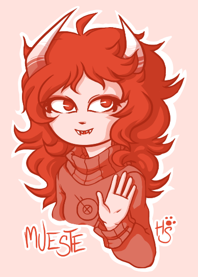 houksan:  My art of an art trade with ambue! Their fantroll Mueste.Hope you like it. :0  Ahh, she's aborable, thank you! =u=
