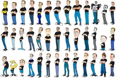 collegehumor:  Guy Draws Himself in 100 Different Cartoon Styles Life is what you draw of it. Any artists out there? Draw yourself as a cartoon and submit straight to our Tumblr. Check out all of them on Kevin McShane's website here.
