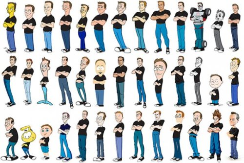Guy Draws Himself in 100 Different Cartoon Styles Life is what you draw of it. Any artists out there? Draw yourself as a cartoon and submit straight to our Tumblr. Check out all of them on Kevin McShane's website here.