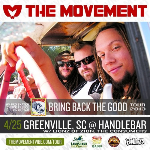 Tonight! Reggae music in the foothills of the Appalachian Mountains: Greenville, South Carolina at The Handlebar w/ Lionz of Zion, The Consumers. #MVMTvibe #GreenvilleSC #LionzOfZionReggae #TheConsumersMusic #reggaemusic #flowlife
