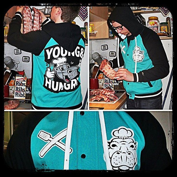 "Less than 10 medium & small ""Young and Hungry"" Varsity Jackets left! No restocks, don't miss out - Pyknic.com"