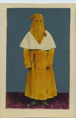 photobigbang:  Hand Coloured Cdv Photo RELIGIOUS PENITENT c1870's vintage photo
