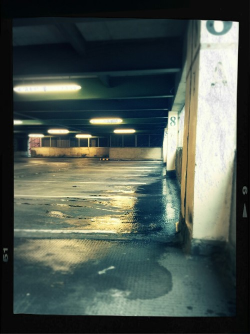 Deserted carpark in Tunbridge Wells.