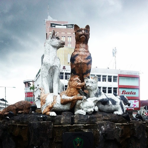 at Kuching North Cats Statue