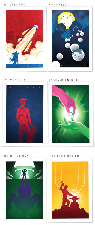 the-ninja-bot:  Support this geeky art print Kickstarter project called  O R I G I N  Series now! Thank you! -The Ninjabot Crew