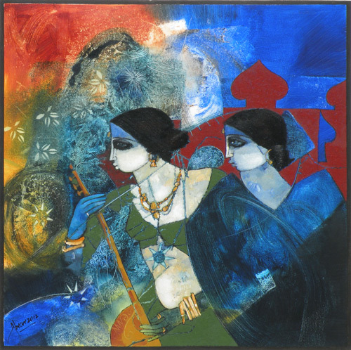 "indigenousdialogues:  Pakistani artist, Abrar AhmadOil on canvas30"" x 30"""