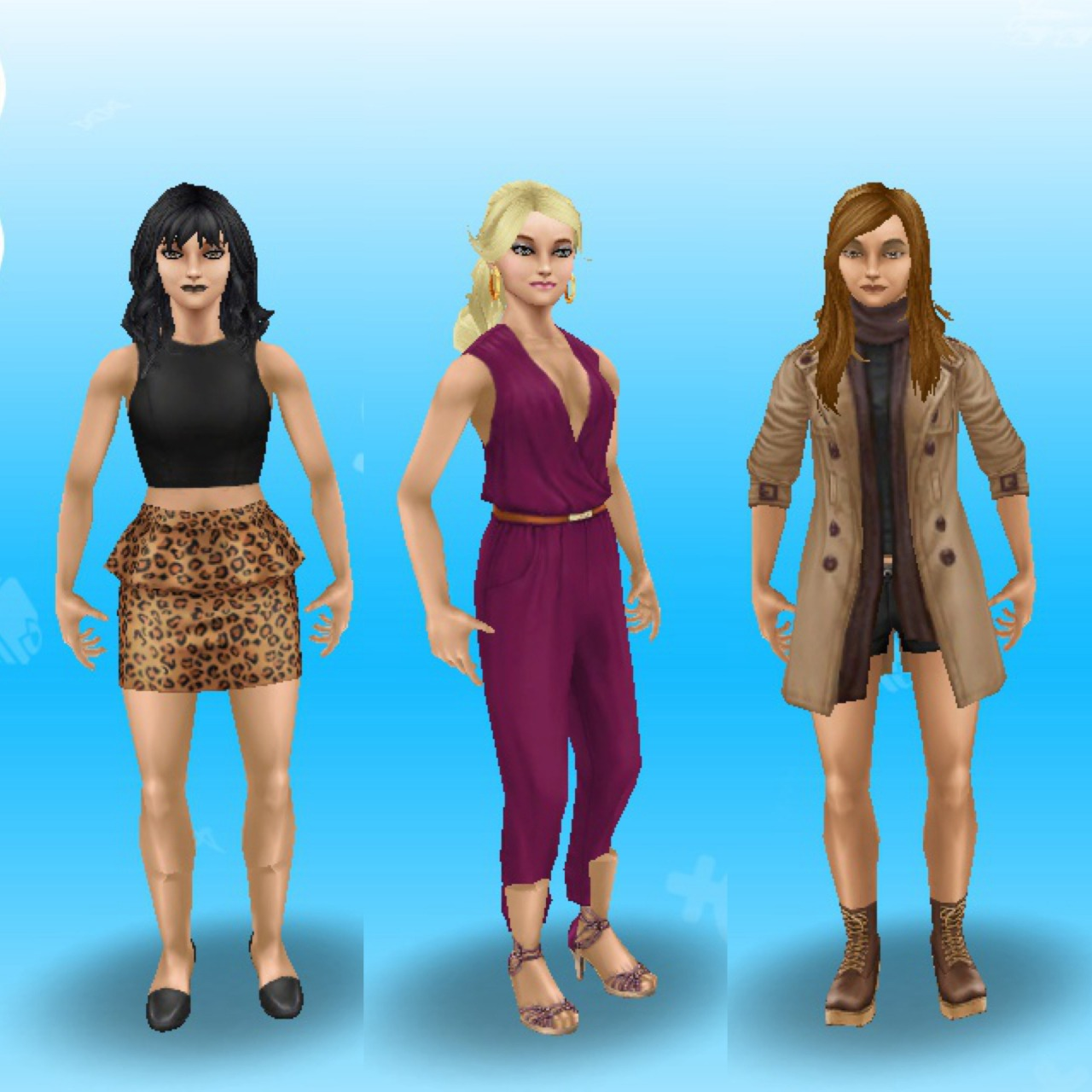 Anything Sims Freeplay Mee Natasha Beaumont Cassie Cranford And Natalie