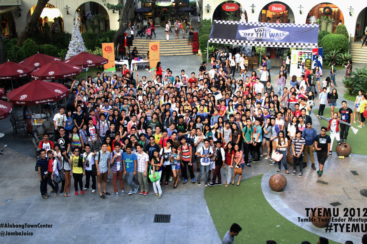 Tumblr Year Ender Meetup 2012. Thank you Jamba Juice and Alabang Tow
