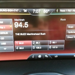 Look what's playing in my new ride! @gavinrossdale @ct3guitar @coreybritz @bushofficial :-)