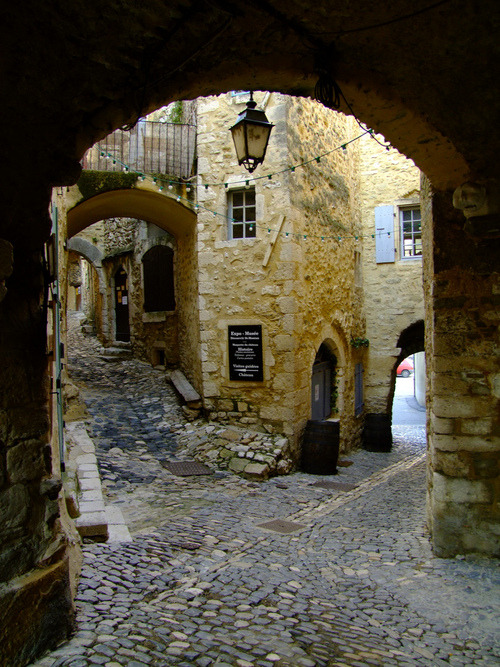 bluepueblo:  Cobblestone Street, Saint Montan, France photo via connie