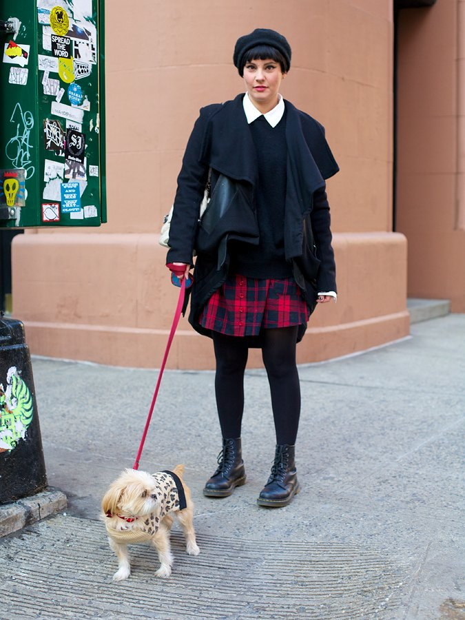 Girl With Dog, Doc Martens On Houston Street.