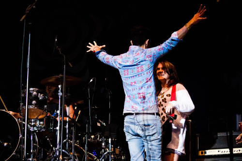 Gabe Saporta and Victoria Asher of Cobra Starship International Balloon Festival of Saint Jean-sur-Richelieu