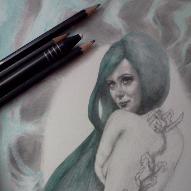 Another progress shot #fridaynightartdorks #artistonistagram #art #drawing #watercolor