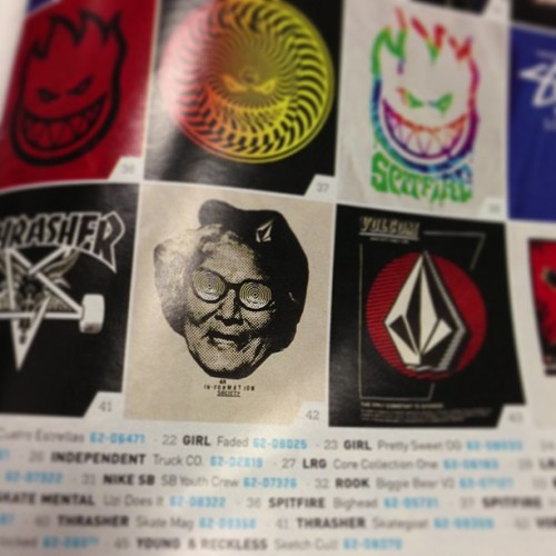 Oh looky here ol volcom art I did made its way into a ccs catalog I just got…how special