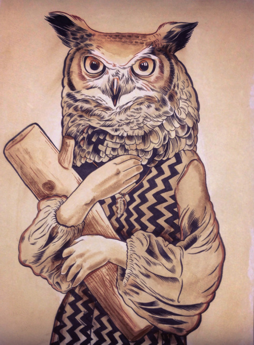 craig horky artists on tumblr david lynch twin peaks the owls are not what they seem log lady fire walk with me coffee coffee painting pen and ink illustrators on tumblr mindzai mindzai gallery