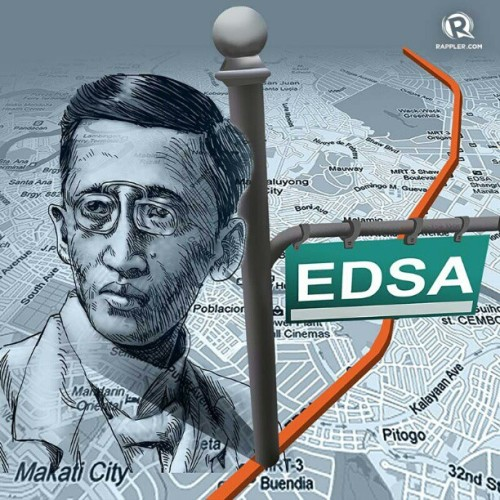 rappler:  Did you know that EDSA is actually a person? Find out more about the men behind the street names of Manila: http://rplr.co/VObLXM