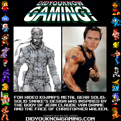 didyouknowgaming:  Metal Gear Solid. http://metagearsolid.org/reports_mgs1_thanksshinkawa.html