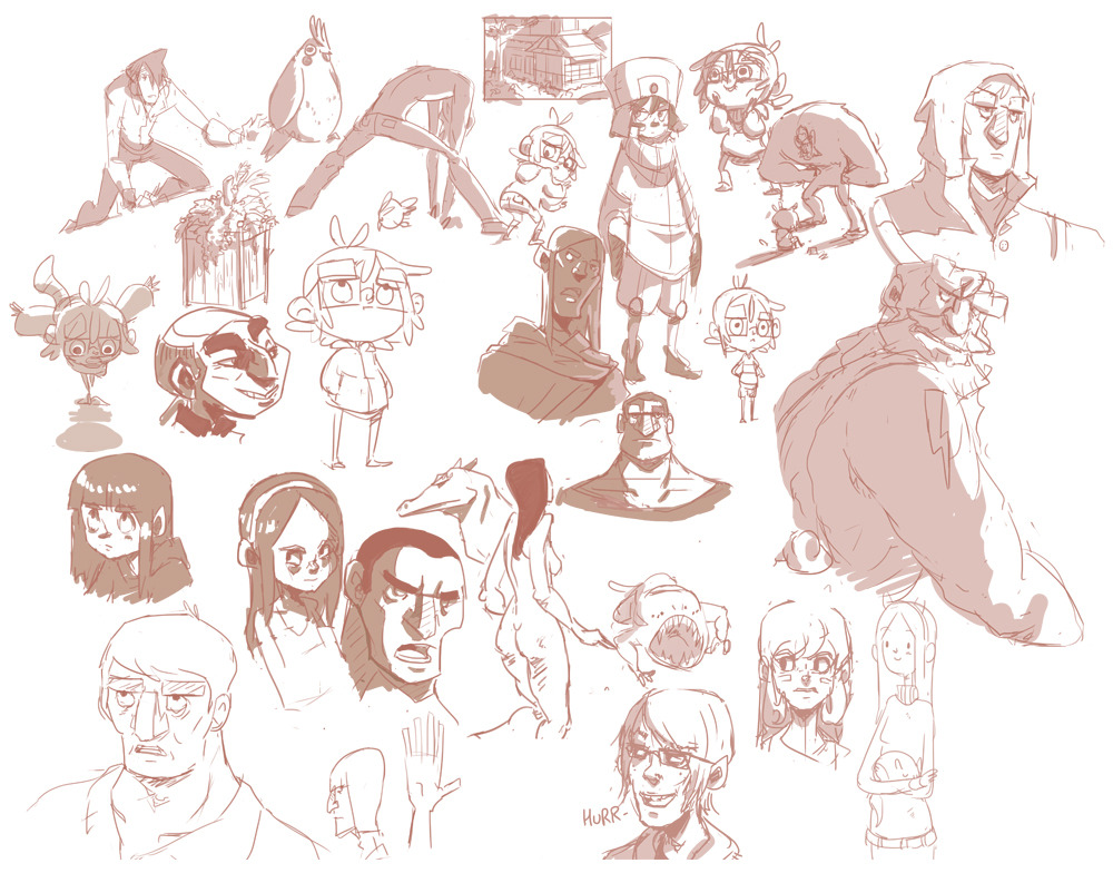 Here are some practice sketches from late November, I thought I'd uploaded them but I guess I didn't. Here they are now! :O