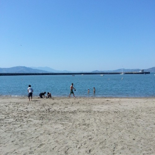 The beach #water #marina #hotday #hot #people #sunny #wind
