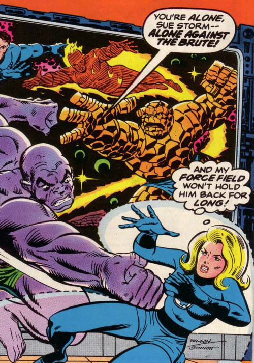 You're Alone, Sue Storm — Alone Against The Brute!