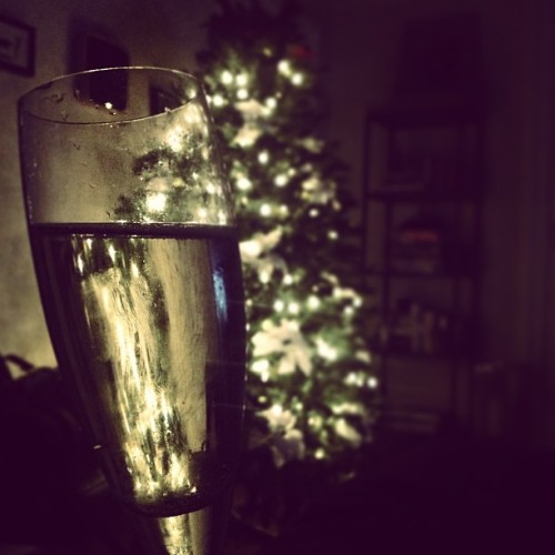 I can't say I'm upset about the way this eve is turning out. #christmas #champagne #elf #wings #presents #tree #holiday #savannah #south #mcdonoughs #lights  (at My Place)